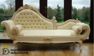 Kursi Sofa Model Ukiran Cat Duco Putih DFJ-931