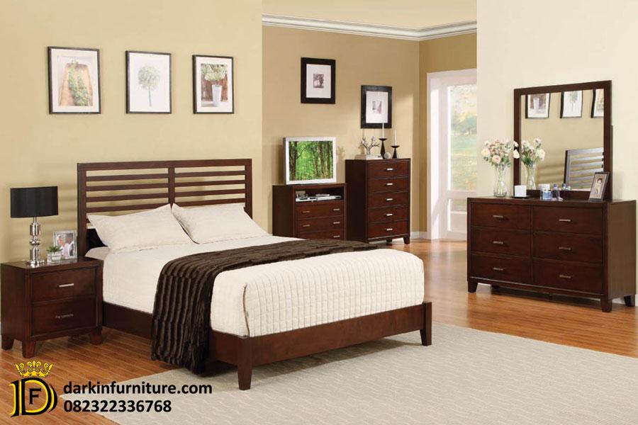 set kamar tidur jati minimalis