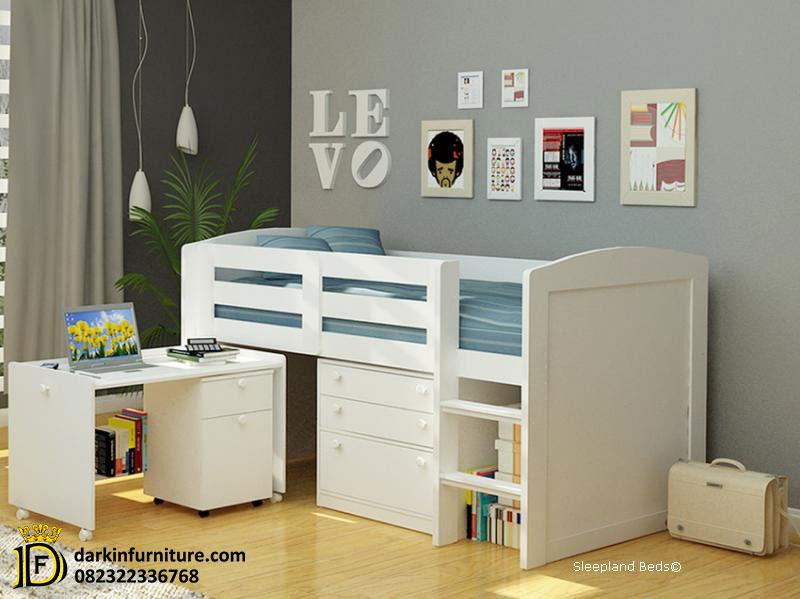 model tempat tidur anak perempuan