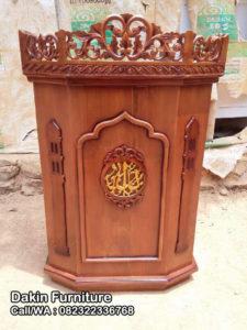 MImbar Masjid Kayu Jati DFJ-1533